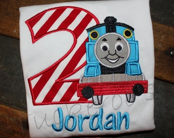 Thomas the Train Appliqued Birthday Shirt