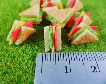 10 Ham Sandwich And Cheese Dollhouse Miniatures Food, Deco