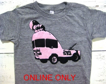 Lincoln toe truck TODDLER shirt. VIntage Seattle print. Hand drawn. American apparel toddler shirt.Tow truck tshirt.