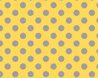 Half Yard Medium Dots - Tone on Tone in Yellow and Gray - Cotton Quilt Fabric - C430-11 - RBD Designers for Riley Blake Designs (W2498)