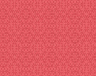 One Yard Fly Aweigh - Circles in Red - Nautical Cotton Quilt Fabric - C3876-RED - by Samantha Walker for Riley Blake Designs (W2533)