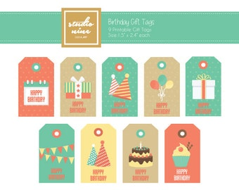 Birthday Printable Gift Tags