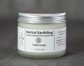 Natural Tooth Paste - Tooth Cream - Custom Choose Your Flavor - Coconut Oil & Calcium Carbonate - Natural Tooth Care Gift- Herbal Earthling