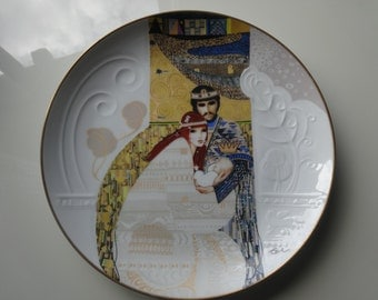 "Original hand painted art plate, ""Bathsheba and Solomon"", Knowles limited edition plate."