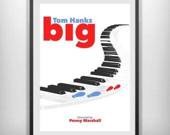 Tom Hanks BIG minimal minimalist movie film print poster