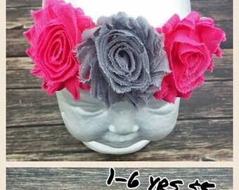 Baby Headband - Baby Girl - Flower Headband - Newborn Headband - Photo Prop - Baby Shower - Baby Girl Headbands - Infant Headband