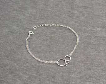 Sterling Silver Ampersand Bracelet