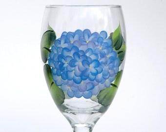 Blue Hydrangeas Goblet