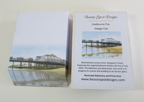 Illustrated Wedge Pad - Eastbourne Pier