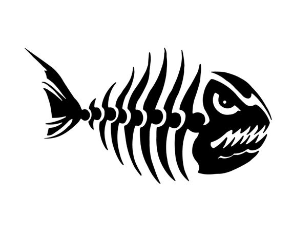Stickers g loomis - Fish Skeleton Decal Fishing Decal Outdoorsman Fish Sticker