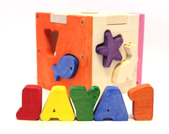 Sorter Toy, Wooden Shapes, Shape Sorting Toys, Wooden Toys, Baby Toys, Educational Toys, Toddler Toys, Toys, Shape Sorter, Multicolored Toys