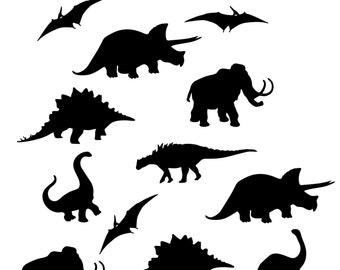 Dinosaur Stencil Etsy
