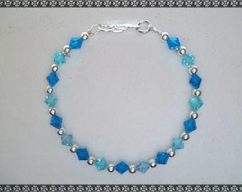 blue bracelet, blue crystal bracelet, Swarovski bracelet