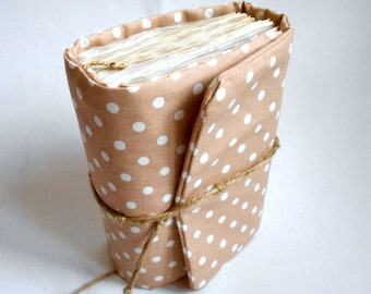 REtro Paster Polka Dots,Journal, Handmade Diary, Travel Book, Old Paper, Pregnancy journals, Notebooks