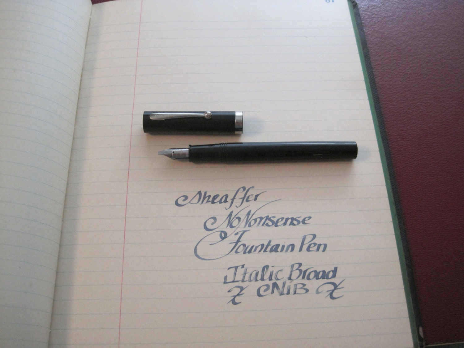 Sheaffer Nononsense Calligraphy Fountain Pen Italic Broad