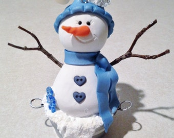 Snowman Christmas Tree Ornament/ Christmas Snowman  Ornament/ Tree Decor /snowman Decoration/ Snowman Lover Gift /Stocking Stuffer