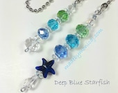 Ceiling Fan and Light Pull Chains with Starfish Bead. Beach Home Decor. Housewarming Gift.  Coastal Glam.