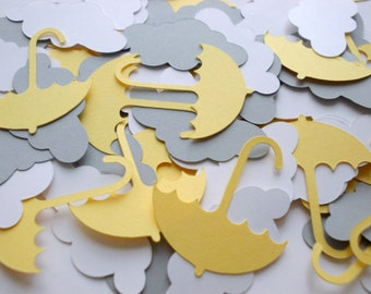 Umbrella & Cloud Confetti, Baby Sprinkle Decor, Baby Shower Party Decoration, Umbrella Cutouts, 100 CT., Ships in 3-5 Business Days