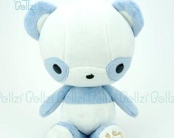 """Bellzi® Cute Panda Plush Stuffed Animal Toy """"Blue"""" White Contrast Plushie -  Pandi"""