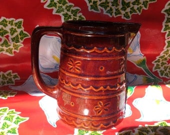 Small Marcrest daisy dot stoneware  pitcher
