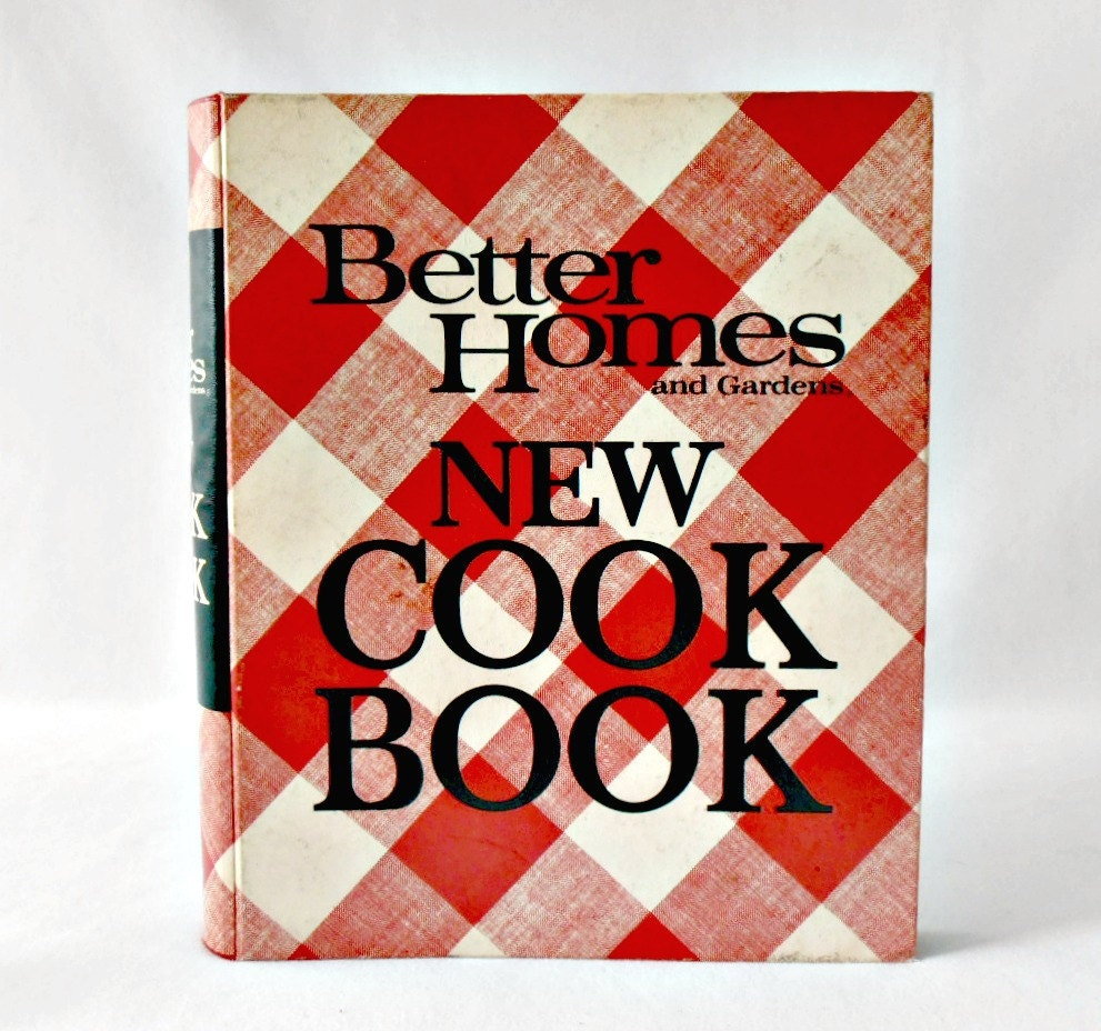 Checkered Cover Cookbook : Vintage cookbook edition better homes and gardens new