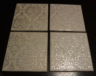 Ceramic Tile Coasters - Set of 4