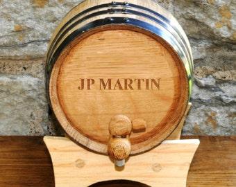 Whiskey Barrel - Wine Barrels -  Mini Oak Whiskey Barrels - Personalized Whiskey Barrel - Groomsmen Gifts - GC1028