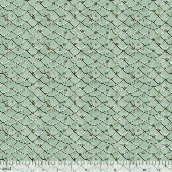 Fish scale fabric scalloped blue by cori dantini from good for Fish scale fabric