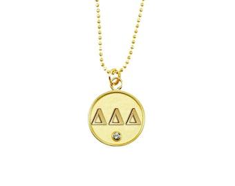 Gold Tri-Delta Necklace