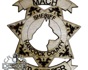 K9  Law Enforcement Police Security  Hanger Ornament Sheriff police dog
