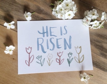 He is Risen- Easter Print