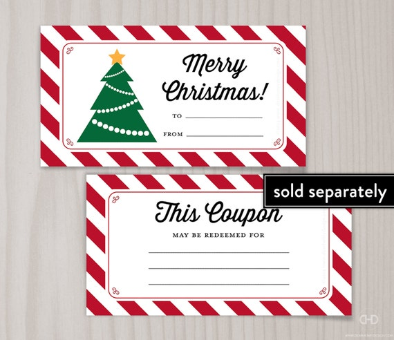 Christmas coupon book for wife
