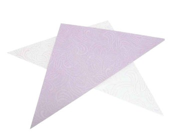 Temporary henna Tattoo Cellophane Mylar Plastic Triangles for Making Hand Rolled Henna Cones 25 Sheets