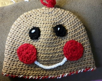 Gingerbread Man/Woman Hat sizes NewBorn to Adult