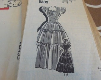 Vintage Mail Order Sewing Pattern 8503 HIGHWAISTED TIERED DRESS Sz 13 50% Off