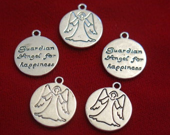 """8pc """"angel"""" charms in antique silver style (BC343)"""