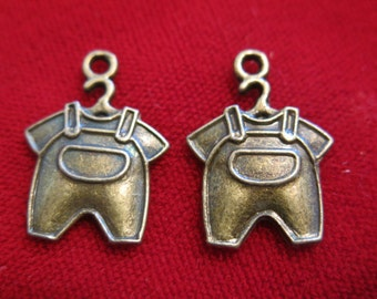 """10pc """"bodysuit"""" charms in antique bronze style(BC368)"""