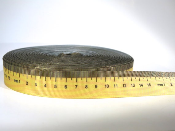 "5 Yards Of 7/8 Inch ""measuring Tape"" Grosgrain Ribbon From"