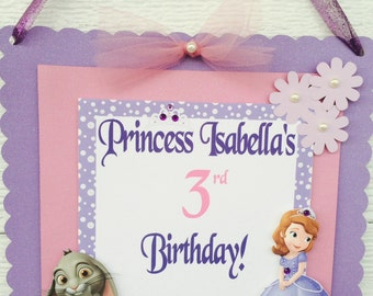 Sofia the first door banner , Sofia the first door sign