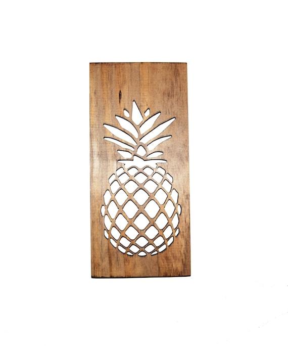 Pineapple Kitchen Art Wood Carving Modern Home Decor Etsy