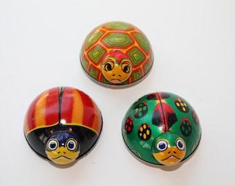 1950s Set of 3 Koyo Friction Toy Turtles
