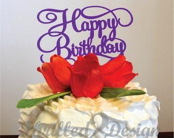 6 inch Happy Birthday CAKE TOPPER - Celebration, Birthday Party