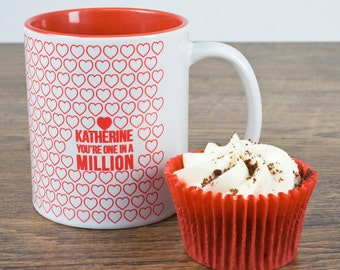 """Romantic """"You Are One In A Million"""" Mug"""