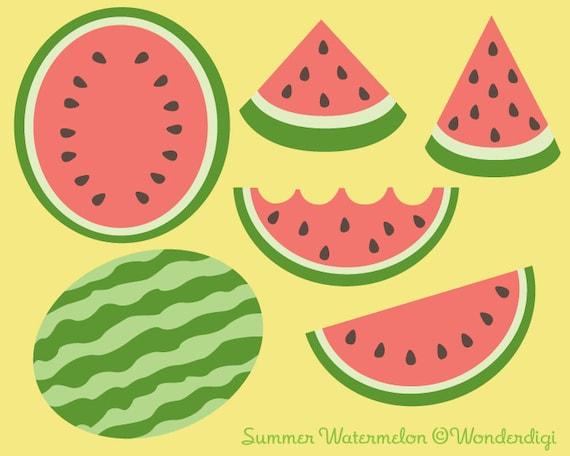 Watermelon Clip Art Summer Watermelon Clipart Fruit Clipart