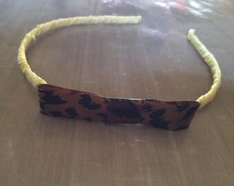 Handmade Headband With Ribbon Bow