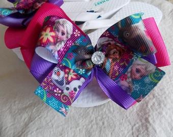 Frozen flip flops  Anna  inspired Frozen sandals . Toddler Flip Flops  kids flip flops or teens Flip flops