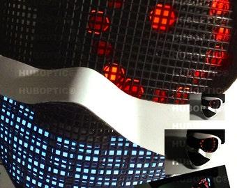 Light Up Mask / Cyborg LED Eye Rave Mask Lighting Sound Reactive for Costume Dance Helmet Party Cosplay Cyborg Robot Bot Rave Wear Lightshow
