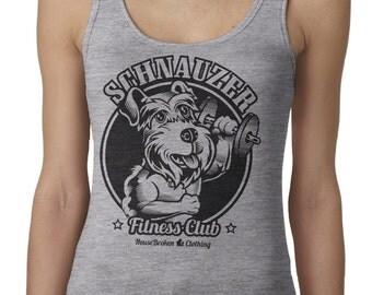 Schnauzer Shirt. Women's Schnauzer Workout Tank Top in Sizes Small to XL