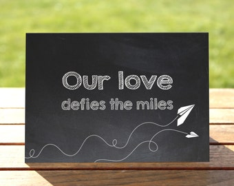 Paper Planes Long Distance Relationship Greeting Card