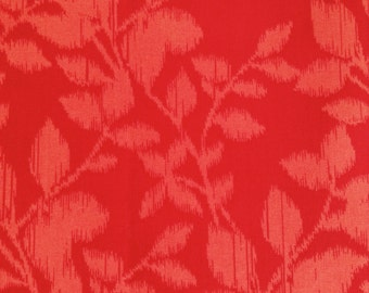 SALE - One Half Yard of Fabric Material - Ikat Style Floral Branches